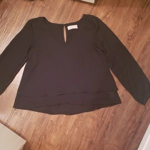 Abercrombie and Fitch - Chifon Long Sleeve Blouse